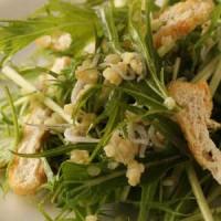 水菜と薄揚げのサラダ